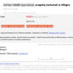 Jeśli używasz Allegro – uważaj. Rozsyłany jest bezczelny phishing wykradający hasła.