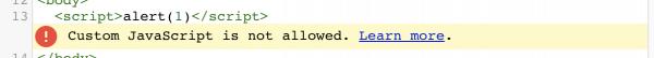 Rys2. Walidator nie pozwala na umieszczanie tagów script