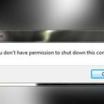 """Dziwny bug w Windows7 – """"nie masz uprawnień do zamknięcia komputera"""""""