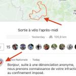 #covid-19: francuska policja na podstawie publicznej mapki w Strava wystawiła kolarzowi mandat? Oj nie…