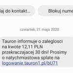 Masz zaległość w Tauronie, dopłać 12 zł albo wyłączą Ci prąd! A nie, czekaj – to phishing czyszczący konta!