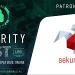 Zapraszamy na onlineową, bezpłatną konferencję Security First. Będzie m.in. prezentacja o reconie od Michała Sajdaka (DNSSEC)