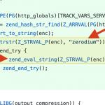 Wrzucono backdoora do kodu źródłowego PHP. Wygląda na włamanie na serwer Gita