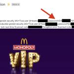McDonald's UK: w mailach do uczestników gry znalazły się… loginy/hasła do baz danych