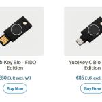 Firma Yubico wydała nową serię kluczy Bio z czytnikiem linii papilarnych